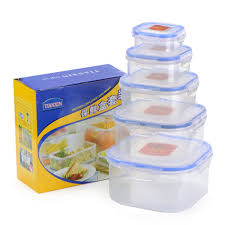 Food Container Storage Kitchen Plastic Microwave Food Box Set Transparent Food Container