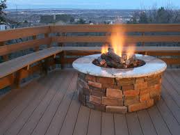 outdoor propane fire pit on your patio home design studio