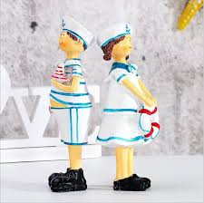 2pcs european mediterranean sailor doll lucky ornaments