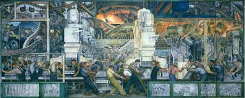 diego rivera detroit industry 1933 painting pinterest