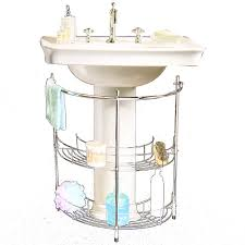Bathroom Sink Organizer The Elegant And Also Attractive Bathroom Pedestal Sink Storage