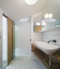 vintage bathroom decor signs glass border grey color concrete wall