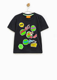 shirt teenage mutant ninja turtle print ovs