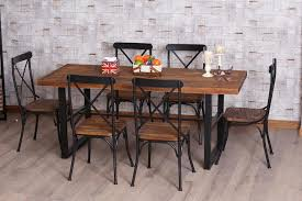 wood and metal dining table sets wrought iron dining room table and chairs 2746 to most dining room