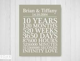 10 year wedding anniversary gift the 25 best 10th anniversary gifts ideas on 10 year