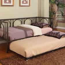 furniture stained wood trundle daybed with rugs for kid bedroom idea