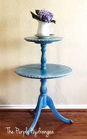 pie crust end table pie crust table in flow blue the purple hydrangea