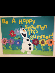 frozen olaf summer bulletin board creations pinterest