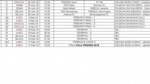Jadwal Piala Presiden 2018 Inilah Jadwal Lengkap Piala Presiden 2018 Psis Semarang Mulai