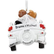 personalized just married wedding ornament lillian vernon