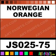 norwegian orange artists colors acrylic paints js025 75