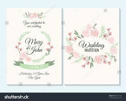 pink green pastel wedding invitation thank stock vector 604241276