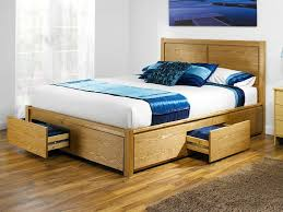 wood bed frame with drawers wooden bed frame with storage drawers uk youtube pertaining to