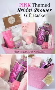 bridal shower gift baskets pink themed gift basket idea for a bridal shower