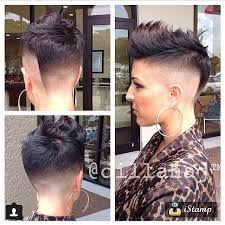 fades and shave hairstyle for women instagram post by justin dillaha dillahajhair short hair