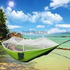 foldable single person outdoor hammock mosquito net hammock