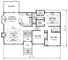 Scaled Floor Plan 1970s Split Level House Plans Split Level House Plan 26040sd