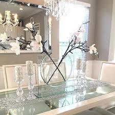 all glass dining room table decorative pieces for dining table fijc info
