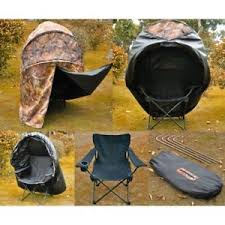 tent chair pro chair ground blind real tree camo tent one hunt