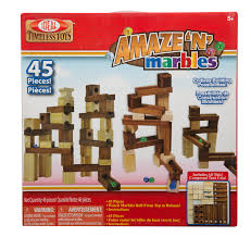 ideal amaze u0027n u0027 marbles classic wood construction set with storage