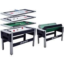expandable game table ea sports 4 in 1 swivel hockey table tennis bowling billiard