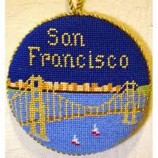 san francisco ornament silver needle needlepoint