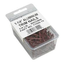 amerimax home products 1 1 4 in brown aluminum nails 1 4 lb