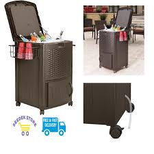 Outdoor Patio Cooler Cart by Sunpentown Sunpentown Home Outdoor Travel Portable Electric