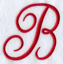 Monogram Letter B Monogram Script Letter B 4 Inch A B C D E F