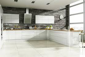 cuisine blanche mur gris cuisine blanche et grise 30 designs modernes et élégants