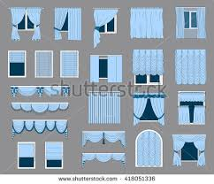 Window Blinds Different Types Set Curtains Classicfrenchromanblinds Collection Different Types