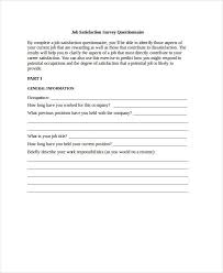 job satisfaction survey template the relationship between