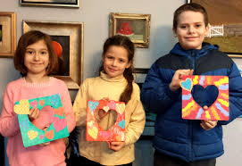 heart frames with kids