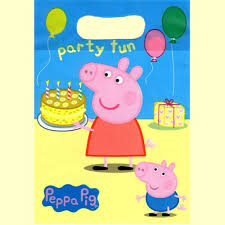 peppa pig party peppa pig party loot bags in packs of 8 party wizard