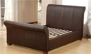Black Leather Sleigh Bed Sleigh Bed King King Sleigh Bed Size All Images Bedroom Sets