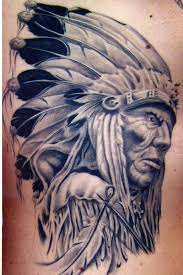 tattoos for men indian 3d indian chief tattoo on left back shoulder by silvano fiato