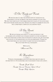 Examples Of Wedding Program Wedding Thank Yous To Parents Finding Wedding Ideas