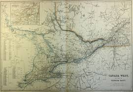 Map Montreal Canada by Map Of Canada West Ontario 1860