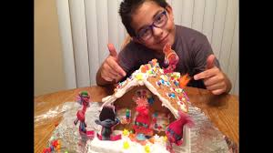 trolls gingerbread house kit unboxing and making christmas craft
