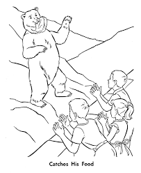 zoo animal coloring pages feeding bears coloring