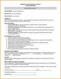 Pharmacy Manager Job Description Medical Billing Job Description Duties Resume Sample