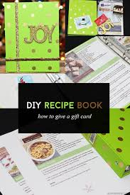 gift card book gifting a gift card inside of a diy recipe book arts crafts