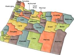 map of oregon with counties counties of oregon