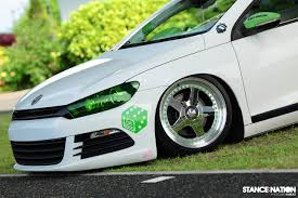 volkswagen scirocco 2016 white japanese scirocco sitting right stancenation form u003e function
