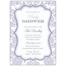 lavender baby shower damask lavender baby shower invitations paperstyle