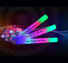 glow lights led foam sticks party glow lights 18 inch customized yolo party
