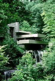 nature landscape waterfall long exposure frank lloyd wright trees