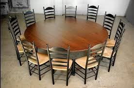 farmhouse table seats 10 large round dining table and chairs silo christmas tree farm home