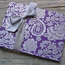 purple guest book goes wedding chic sweet wedding guest book in medium size from