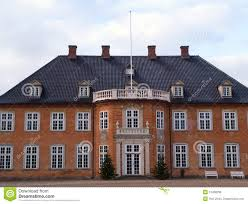 big beautiful mansion house estate denmark royalty free stock